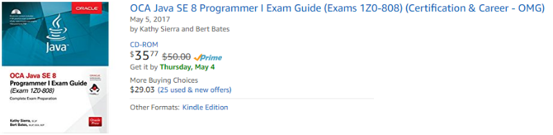 Kathy Sierra Java SE 8 Programmer I Exam Guide to be released on ...