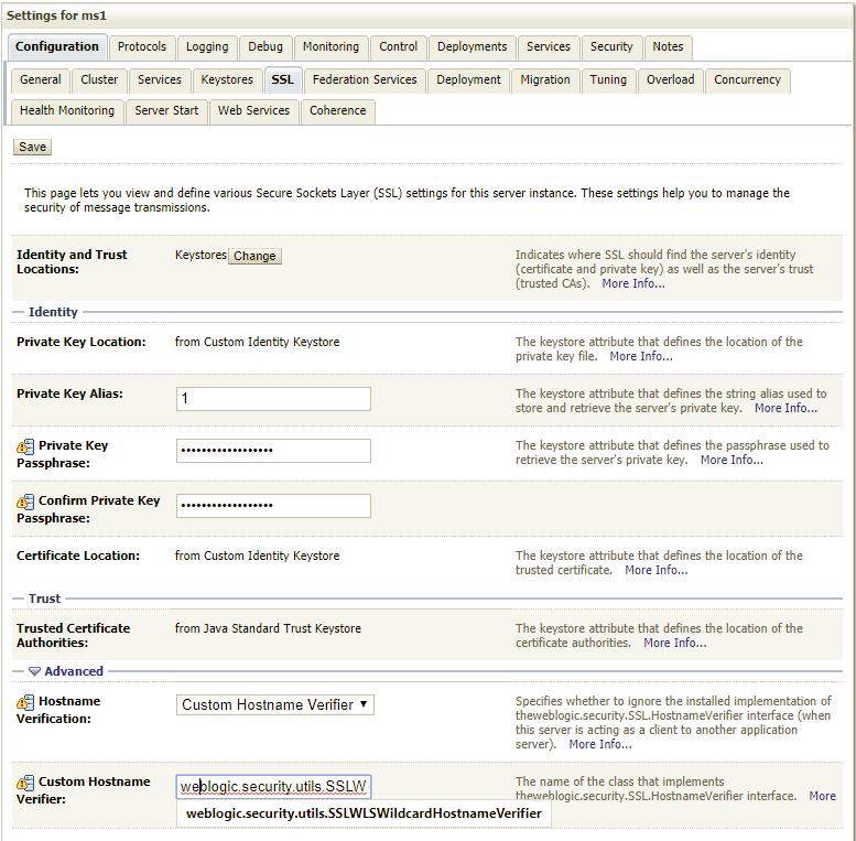 Wildcard Certificate with WebLogic 12cR2 (BEA/Weblogic forum at
