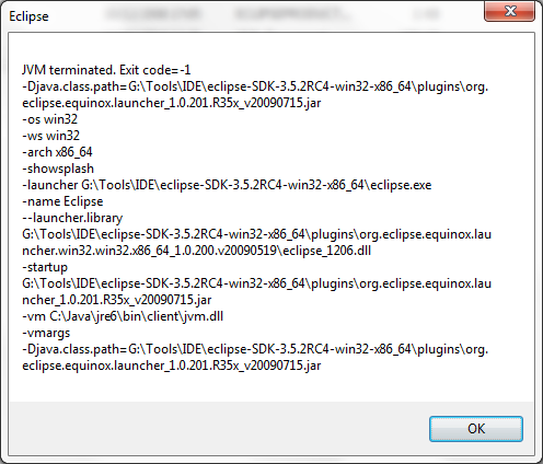 Eclipse Windows 7 (64) bit Does'nt Start  (IDEs and Version