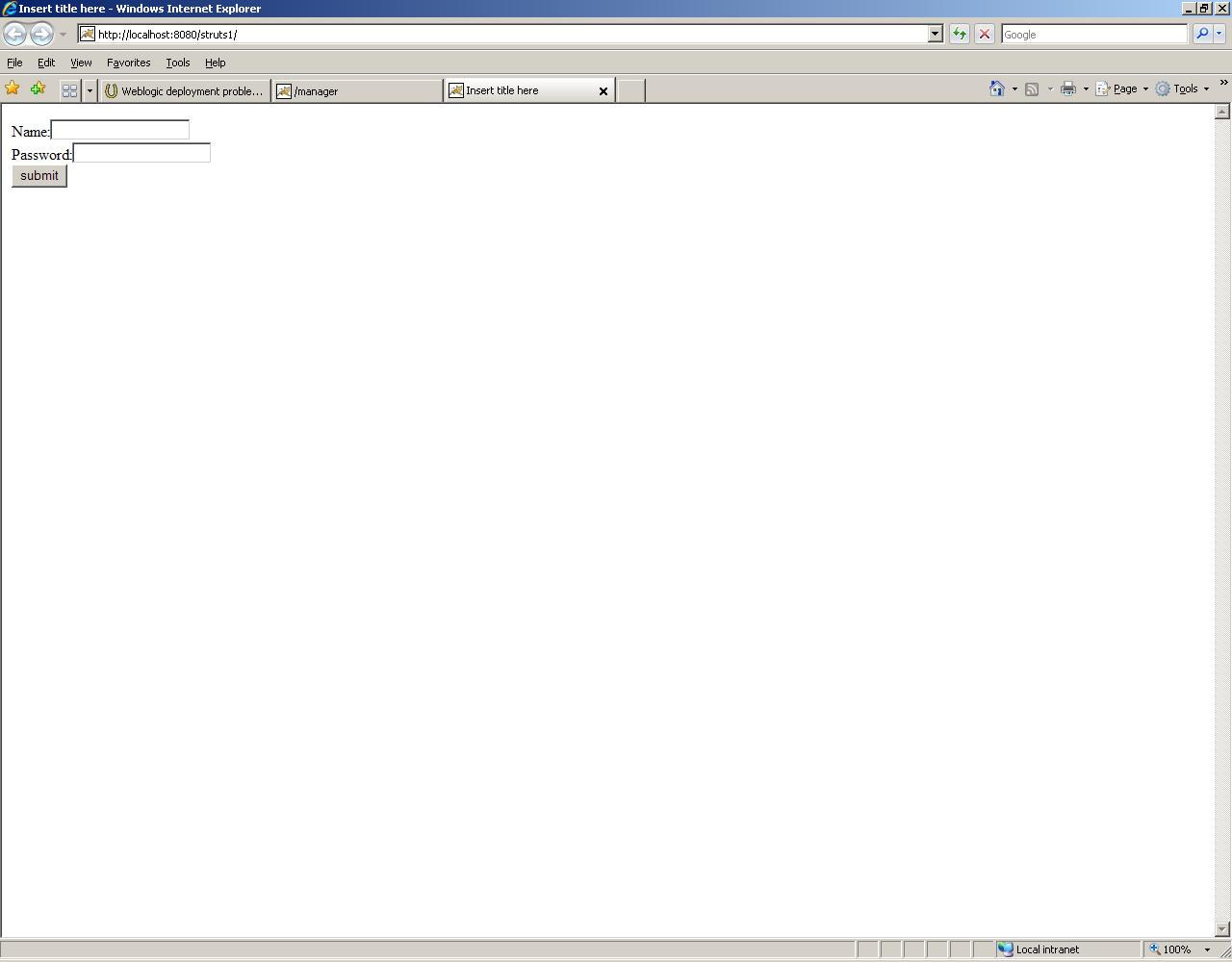 Weblogic deployment problem (BEA/Weblogic forum at Coderanch)