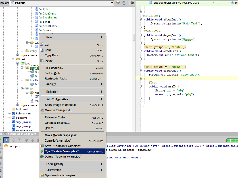 IntelliJ switch between junit and testng (IDEs and Version