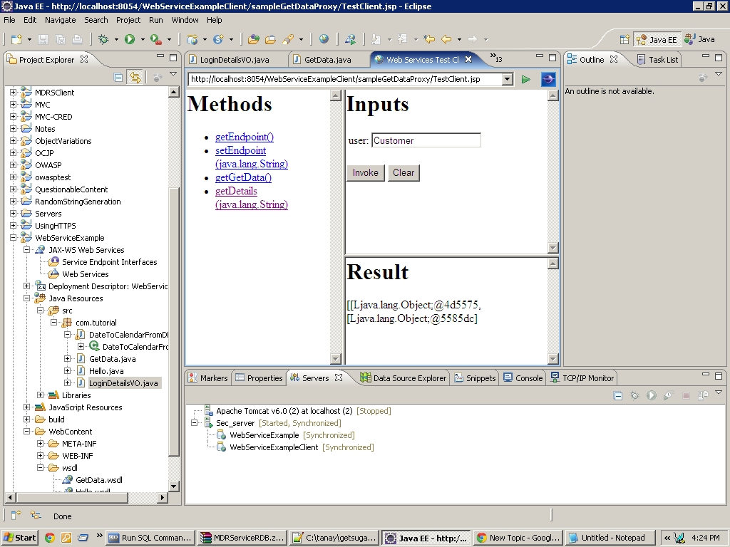Returning multiple values in a web service web services forum at thumbnail for resultg baditri Gallery
