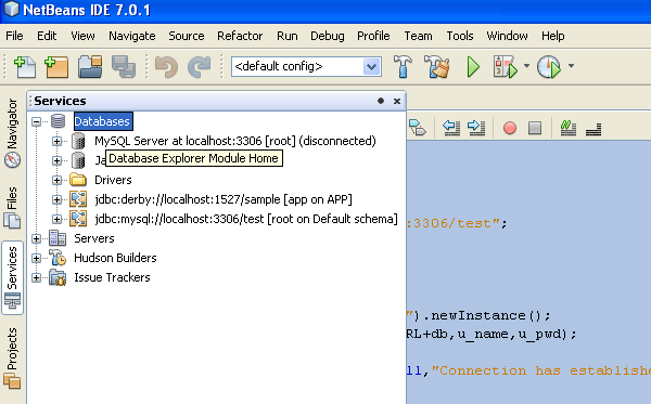 Communication with wampserver and netbeans 7 0 1 (JDBC and