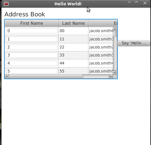 Tableview with TextField in Javafx (JavaFX forum at Coderanch)