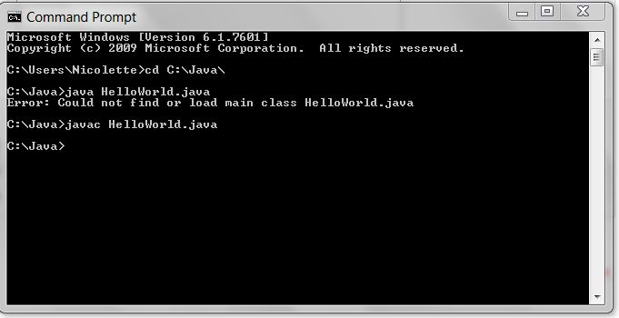 Could not find or load main class error [Solved] (Beginning Java