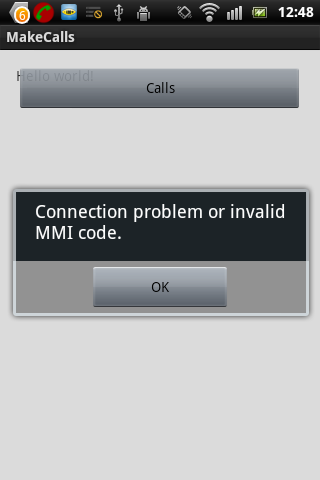 error in USSD code in android [Solved] (Android forum at Coderanch)