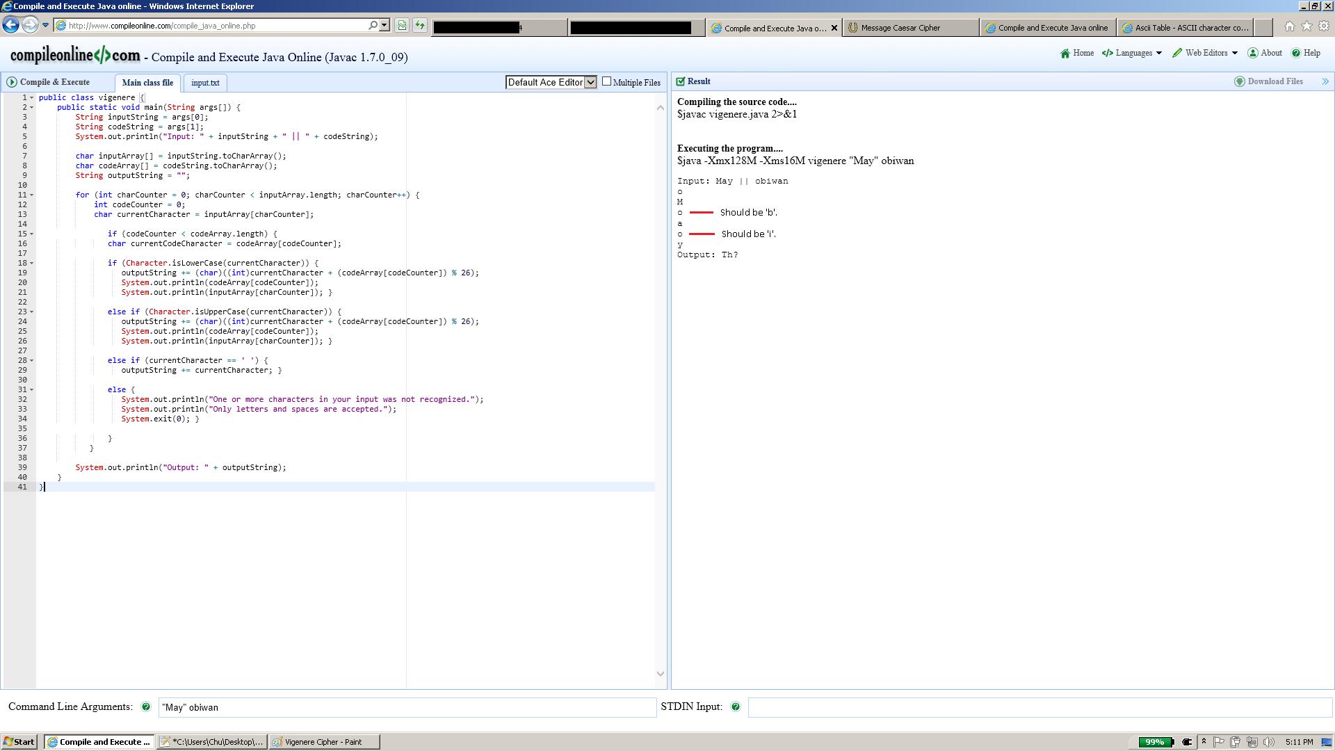 Caesar Cipher (Beginning Java forum at Coderanch)