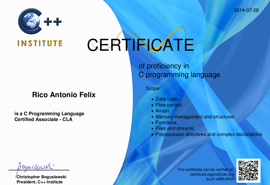 C programming language certificate c c forum at coderanch thumbnail for successsnapshotg xflitez Image collections