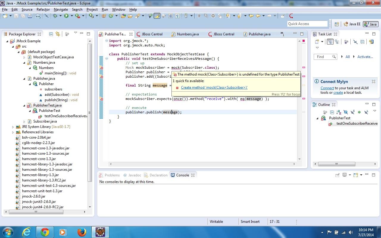 junit mock example (Testing forum at Coderanch)