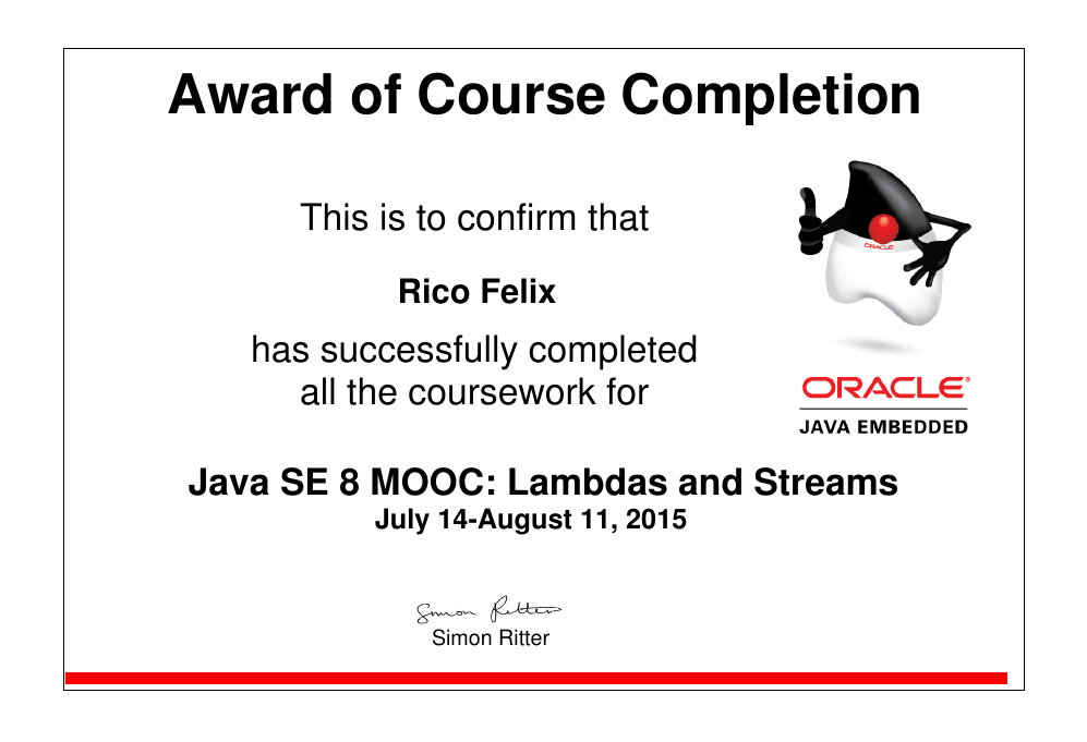 Oracles Mooc Features New In Java 8 Forum At Coderanch