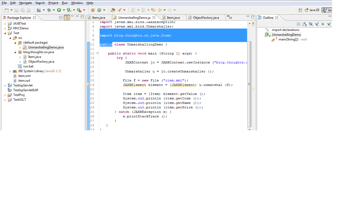 xjc command using eclipse IDE rather than command line