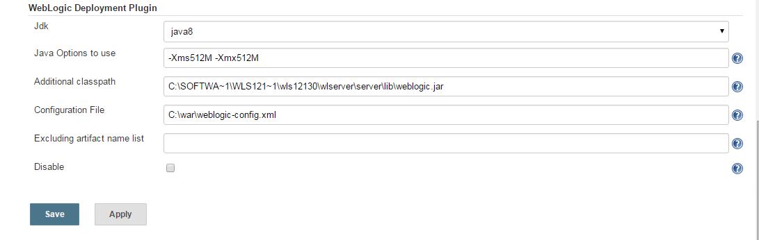 Jenkins deployment into Weblogic 12c FAILING (Other Build