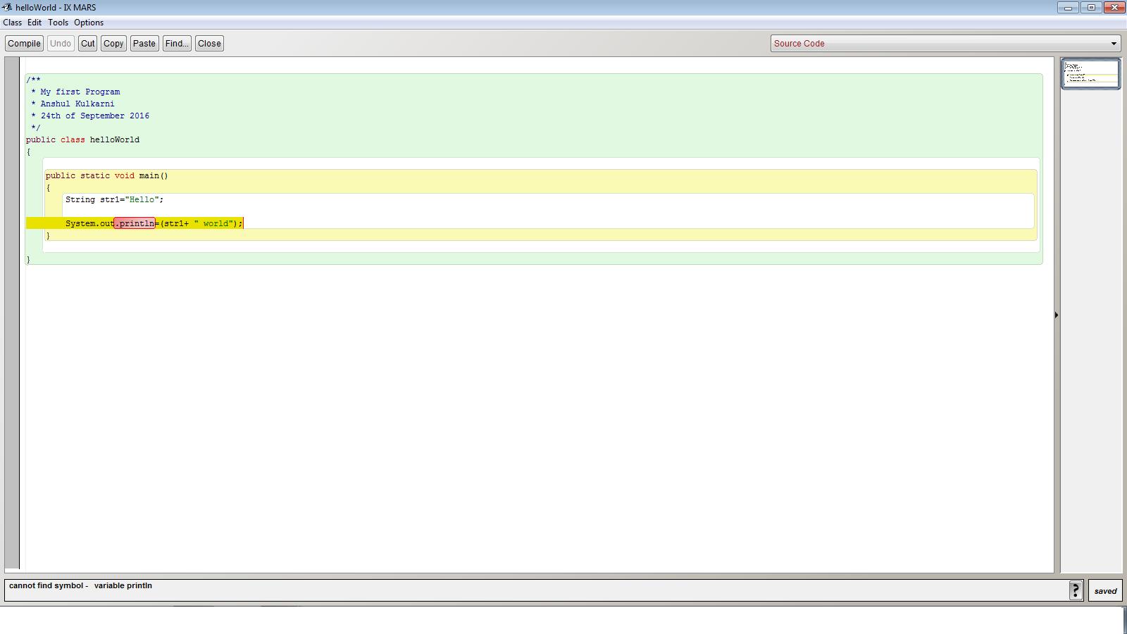 Error In Hello World Program Beginning Java Forum At Coderanch