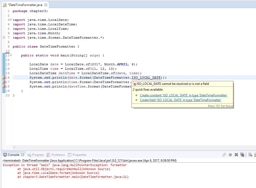 DateTimeFormatter question [Solved] (Beginning Java forum at Coderanch)