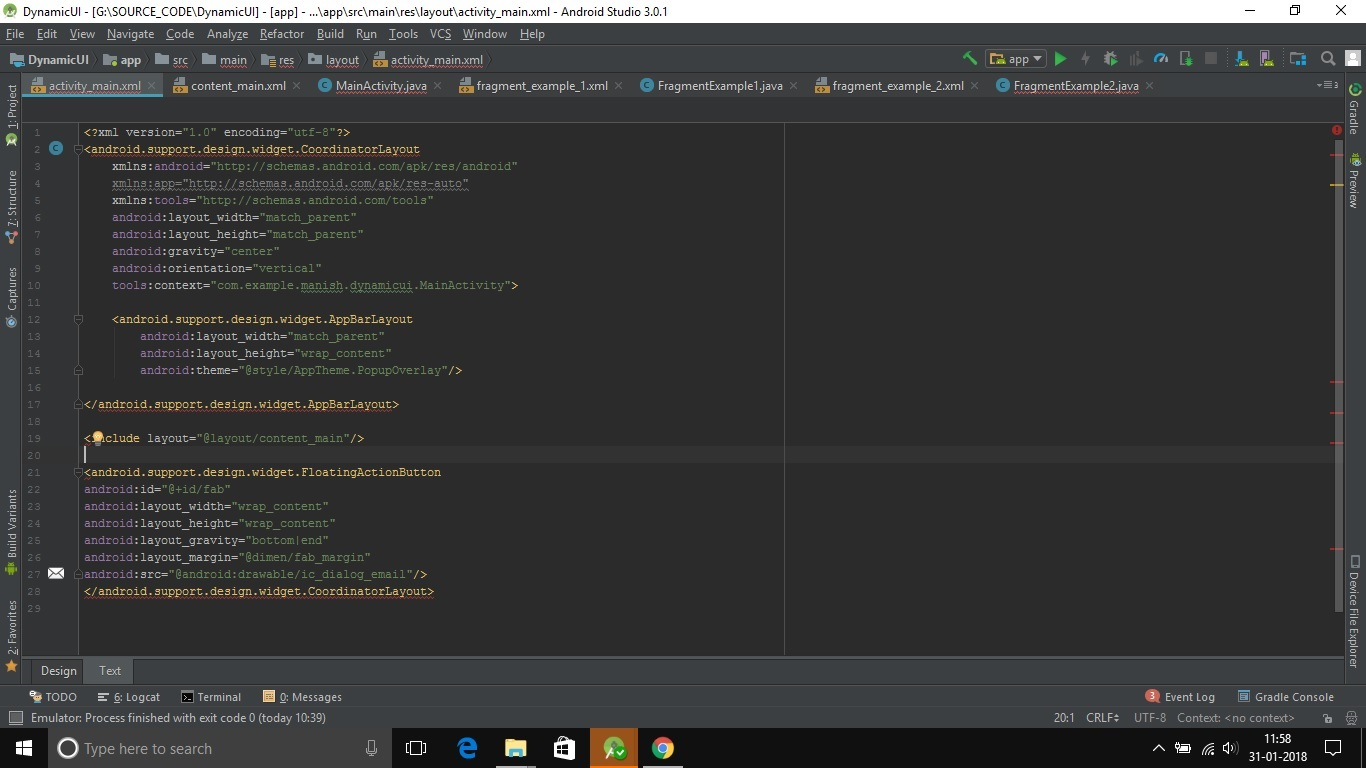 Android Code doesn't compile, Android Studio 3 0 1 (Android